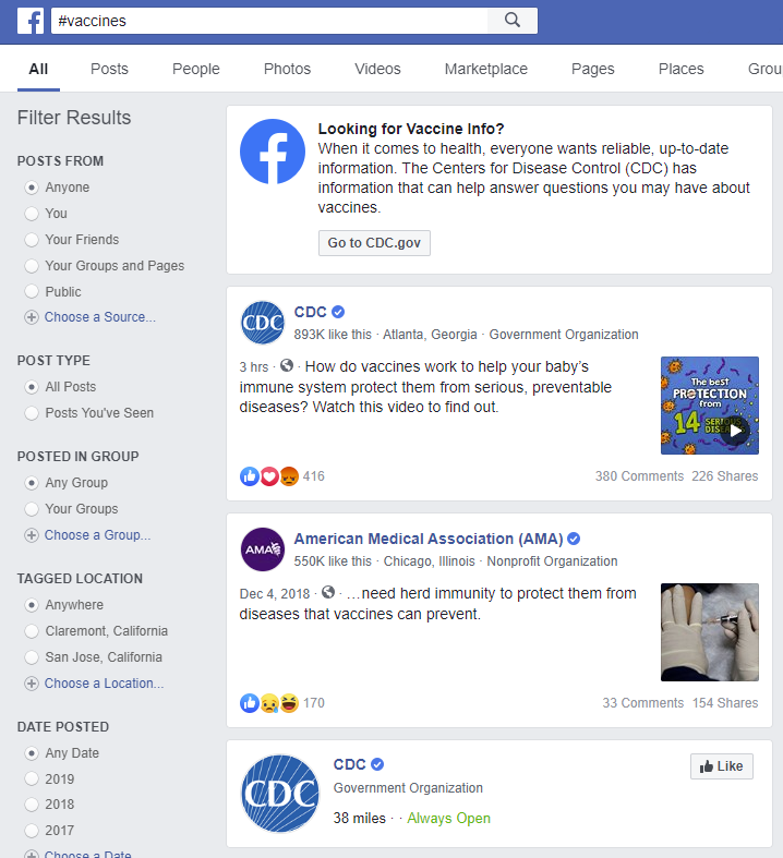 Facebook debuts new notifications to fight vaccine misinformation
